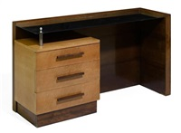 A GEORGE NELSON FOR HERMAN MILLER MIRROR TOP DESK