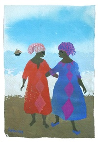 black ladies by the sea by mary fedden