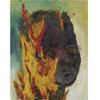 burning friend by george condo