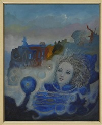 mujer en azul by daniel manrique