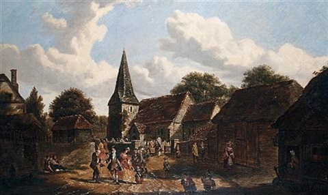 returning from church, loose, kent by g. f. apps