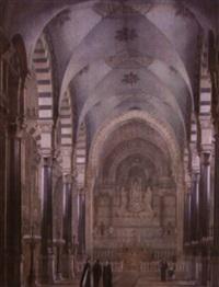 intérieur de l'église de caluire, près de lyon by jean buis