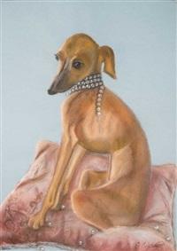 greyhound by svetlana lenskaya
