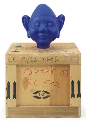 dwarf head blue by paul mccarthy