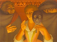un ballo in maschero (from metropolitan opera fine art portfolio ii) by george tooker