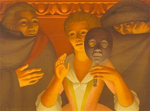 un ballo in maschero from metropolitan opera fine art portfolio ii by george tooker