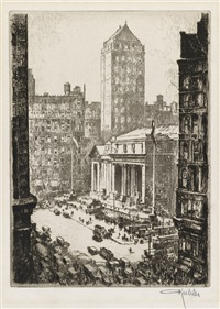 fifth avenue at 42nd street, new york by otto august kuhler