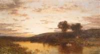 evening in the mohawk valley by george herbert mccord
