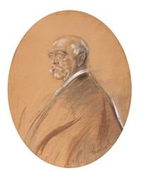 a portrait of otto fürst von bismarck by franz seraph von lenbach