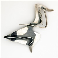abstract figural brooch by ed wiener