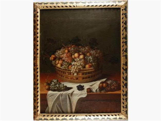 corbeille de fruits sur un entablement by paul dorival