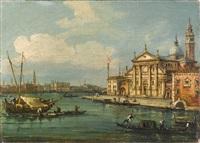 blick auf san giorgio maggiore in venedig by italian school-venetian (19)