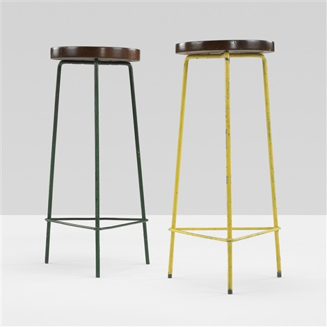 stools from the college of architecture chandigarh pair by pierre jeanneret