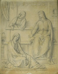 christus mit maria und martha by philipp veit