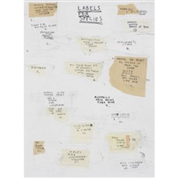 labels for species (notebook drawing study) by simon evans