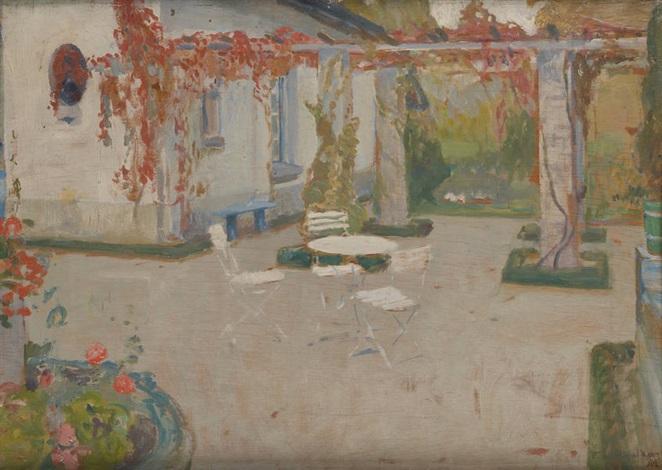 la terrasse ensoleillée by franz van holder