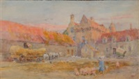 farmyard, honvault by lionel percy smythe