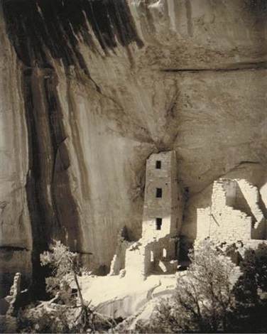 Charming Square Tower House, Mesa Verde National Park By Laura Gilpin