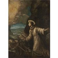 saint francis receiving the stigmata by domenico tintoretto