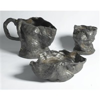 untitled (vase, pitcher and bowl, various sizes; 3 works) by andrew lord