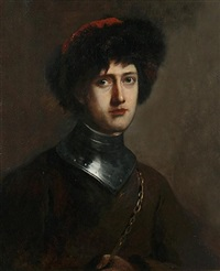 portrait of lord byron as manfred by frederick yeates hurlstone