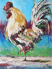 cockerel by lorna millar