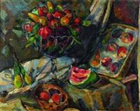 stillleben mit früchten by konrad ferdinand edmund von freyhold
