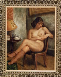 seated nude by russell cowles