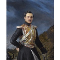 portrait of an officer said to be ivan balashov by pimen nikitich orlov