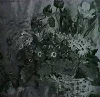 stilleben mit blumen und pferdchen by wladimir ananyew