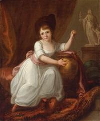 porträt eines mädchens im weißen kleid by angelika kauffmann