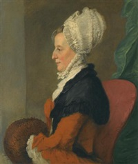 portrait of catherine (c.1716-1806), wife of richard owen cambridge by ozias humphry