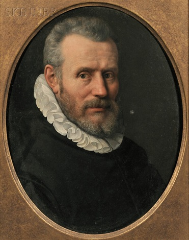 portrait of a man in a ruff by continental school 17