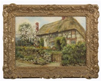 old cottage at bury by frank moss bennett
