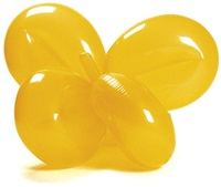 inflatable balloon flower (yellow) by jeff koons
