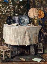 stilleven op tafel by suze bisschop-robertson