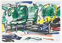 road before the forest (from landscape series) by roy lichtenstein