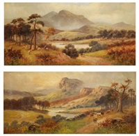landscape pertschire (+ landscape cromarty; pair) by frederick william hulme