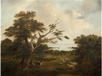 a view of the river orwell by robert burrows
