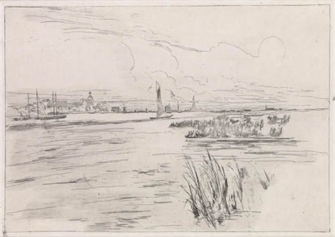 holland dykes by john henry twachtman