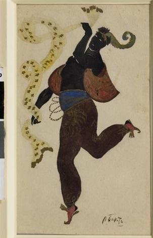 danseur en costume tsigane by leon bakst