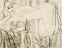 a reclining nude girl by richard fremund