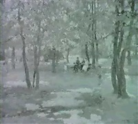 sonnendurchflutete parkland- schaft by ferensz gaal