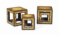 deux paires de table bouts de canape (set of 4) by renzo mongiardino