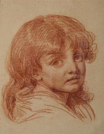 jeune fille en buste by jean baptiste greuze