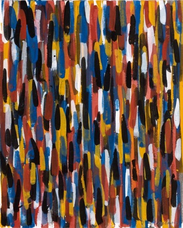 short vertical brushstrokes by sol lewitt