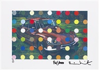 spots car painting by paul simonon and damien hirst
