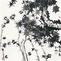 梅松竹 三友图 by deng lin