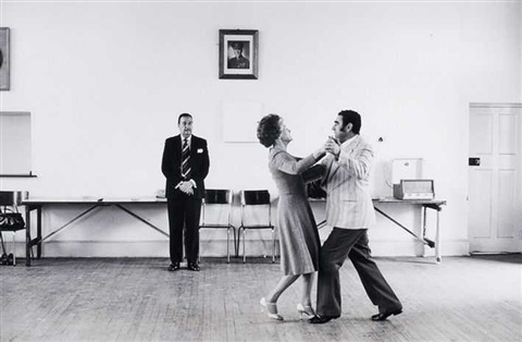 dancing master ted van rensburg watches two of his ballroom pupils by david goldblatt