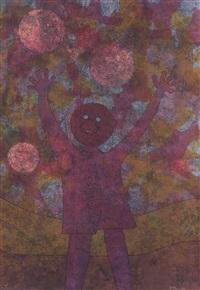 la familia jugando (triptych) by rufino tamayo
